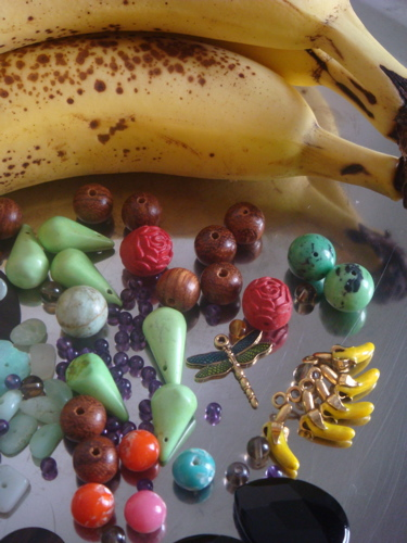 Plain bananas & the new beads