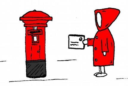 mr postie notecard