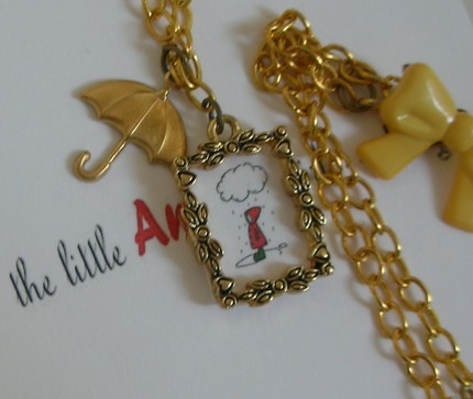 wet wellies necklace