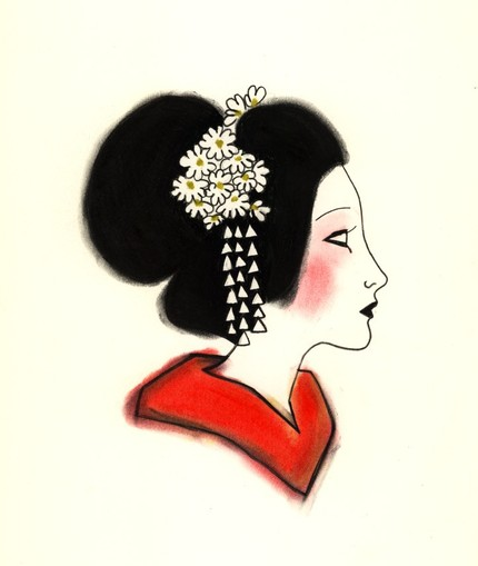 Little Geisha Girl - 4 X 6 print