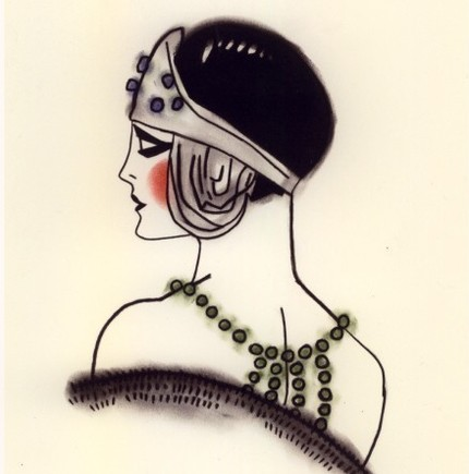 Art Deco Flapper - print