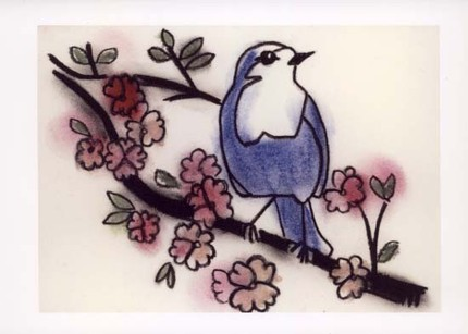 Little Blue Bird of Happiness II - print