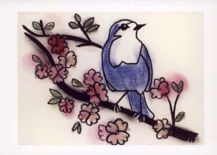 Little Blue Bird of Happiness II - print