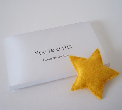 You're a star - greeting card