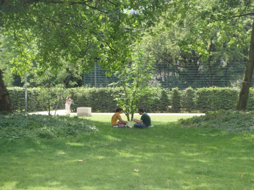 An oasis in the city: Full of lush parks, a rare find for someone coming from a dry climate