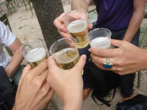 A toast: To Paris and our reunion