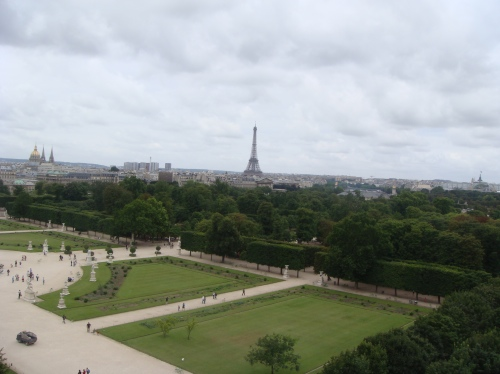 View from the top: The Eiffel Tower