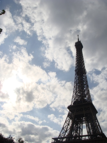 So close: The Eiffel Tower