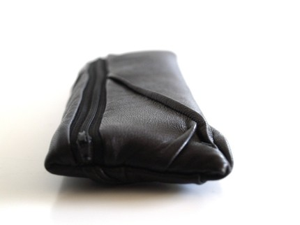 Zip - black - repurposed leather